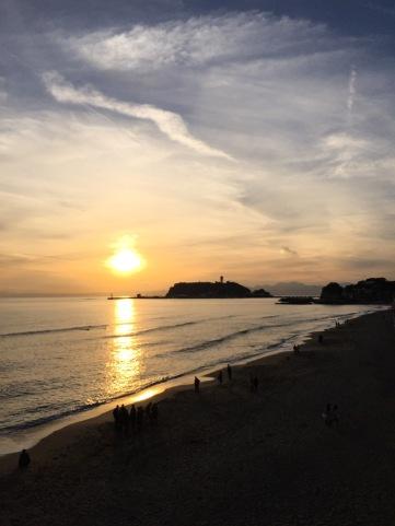 江之島日落